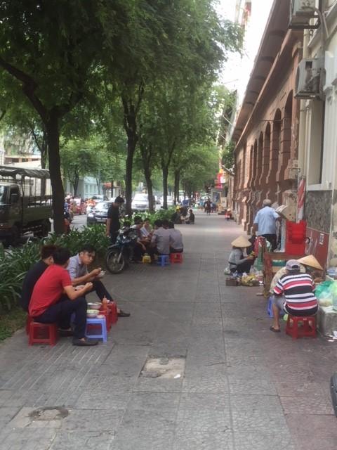 ベトナムの町の人たち