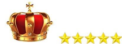 王冠と星5つ