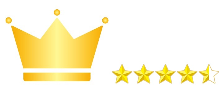 王冠と★4.5
